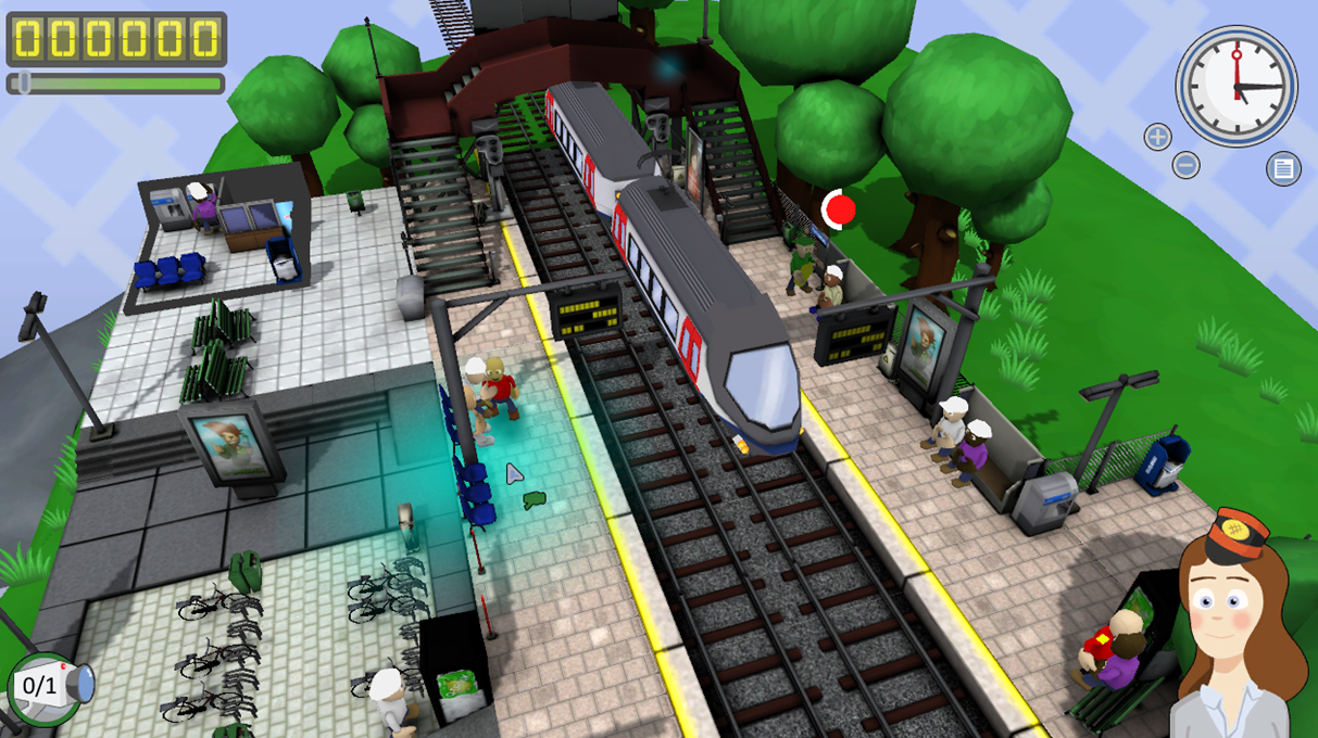 video game letting you experience the hecticness of a train platform