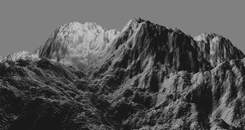 procedural generated mountains with opengl
